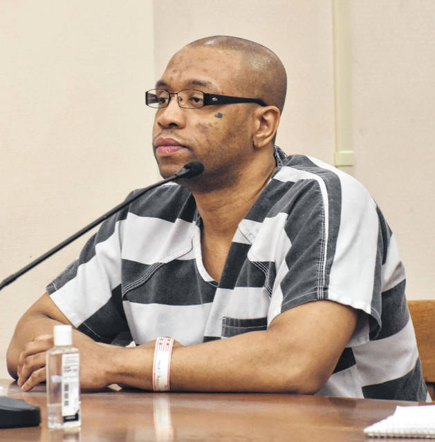 Timothy Youngblood, 33, of Lima, showed no emotion as he was sentenced Monday afternoon to 15 years to life in prison for the 2018 stabbing death of his father, Van Youngblood.