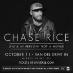 Chase Rice plans live concert in Middle Point on Oct. 11