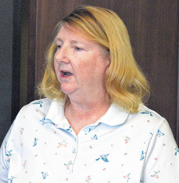 Sally Ulrich of Elida voiced her concerns before Elida Village Council Tuesday night about potential increases in utility fees.