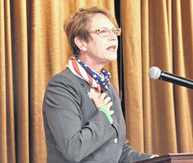 Ohio Supreme Court Justice Sharon Kennedy was the guest speaker Friday at the monthly noon luncheon of the Allen County Republican Party.