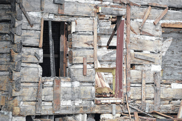 This log cabin is one example of what early settlers in Allen County might have built. This cabin is being dismantled and will have a new life in Indiana after it's restored.