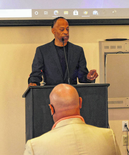 Walter C. Potts Entrepreneur and Training Center board member Jerome O'Neal was one of a few speakers at Friday's press conference to discuss the center's 2020 progress and future goals.