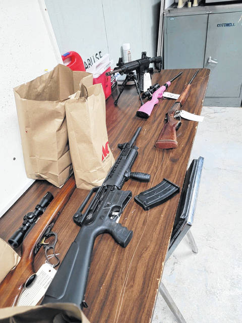 Pictured are items seized during the execution of a search warrant Tuesday in rural Van Wert County.