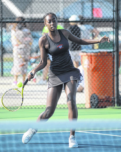 Shawnee's Kunmi Ojo finished second in first singles during Saturday's Western Buckeye League tournament at Elida High School.