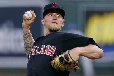 Cleveland's Zach Plesac allowed a run and four hits, striking out six and walking none, in six innings of work Tuesday night against the Royals in Kansas City, Mo. (AP photo)