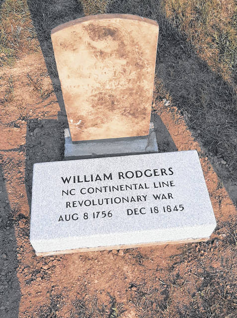 Revolutionary War veteran William Rodgers now has two gravestones, as the original was found nearly buried after a replacement was ordered. A ceremony will be held at Logan Cemetery, Perry Township.