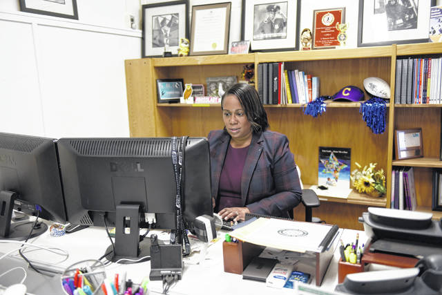Camden City School District Superintendent Katrina McCombs poses for a portrait at her desk at the school district office Oct. 21 in Camden, N.J. A complete picture has yet to emerge of how much learning was lost by students during the pandemic.