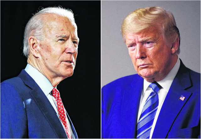 During Thursday night's debate between Democrat Joe Biden, left, and President Donald Trump, only the candidate whose turn it is to speak will have his microphone turned on. The microphone of the other candidat will be cut off.