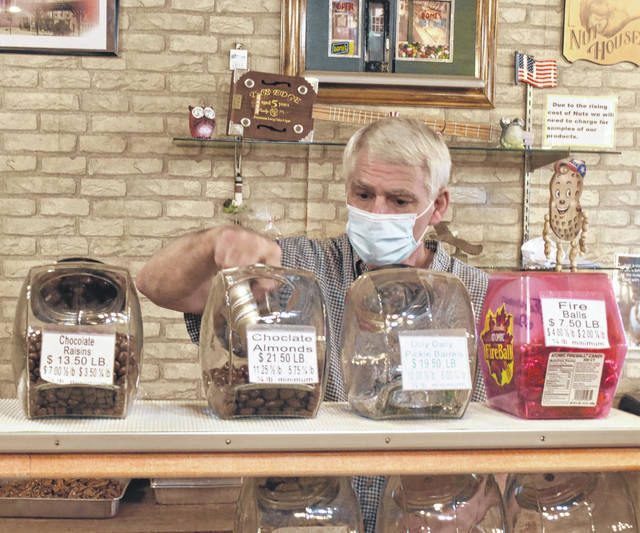 """I tell people I've served my time, and I'm being released on parole from the nut house,"" said Glenn Dome, owner of Dome's Nut Shop."
