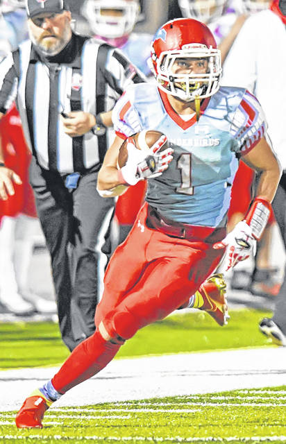 Lima Central Catholic's Rossi Moore will be the featured back against Crestview Friday night.