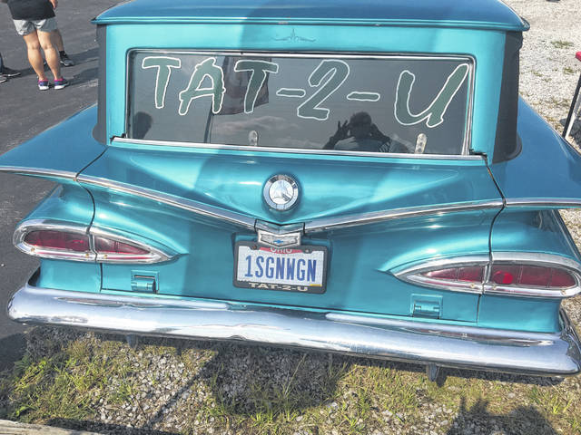 The 1959 Chevy Sedan Delivery Wagon included classic '50s fins and the cat-eye tail lights.