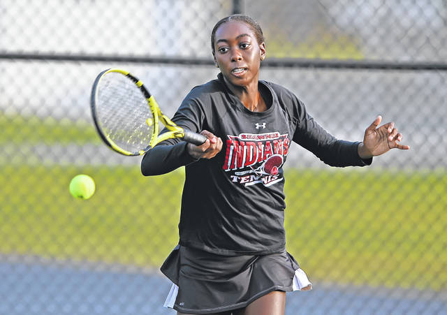 Shawnee's Kunmi Ojo was the singles champion during Saturday's Division II sectional at Elida.
