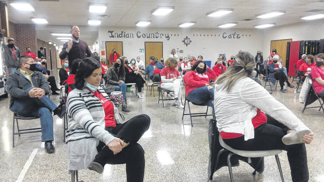 Dozens of teachers turned out at Tuesday night's Shawnee school board meeting to discuss their concerns about dealing with in-person and remote learning.