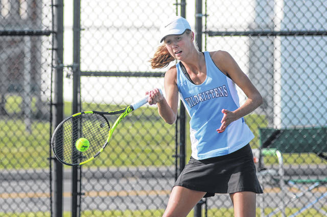 Ruth Bolon, along with her sister, Esther, will be making a third trip to state in doubles in Division II.