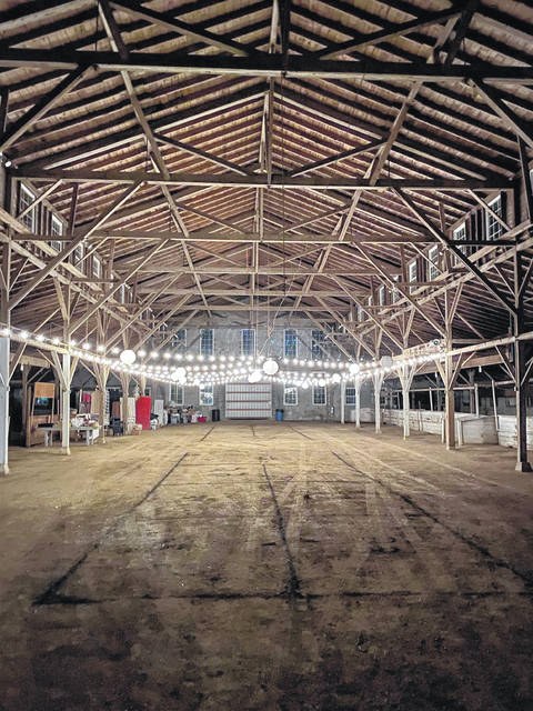 Set-up begins at the Dairy Barn Emporium at the Van Wert County Fairgrounds.