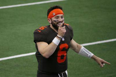 Quarterback Baker Mayfield (6) and the Cleveland Browns will face one of the top defenses in the NFL when they play Indianapolis on Sunday. (AP photo)
