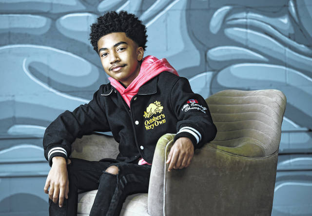 """Actor/rapper Miles Brown poses for a portrait to promote his album """"We The Future,"""" Friday, Nov. 6, 2020, in Los Angeles."""