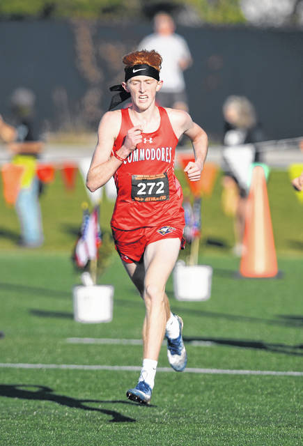 Perry's Braden Yingst finished ninth in Saturday's Division III boys race during Saturday's State Cross Country Championships at Fortress Obetz and Memorial Park. See more photos from the state championships on 3C, 4C and LimaScores.com.