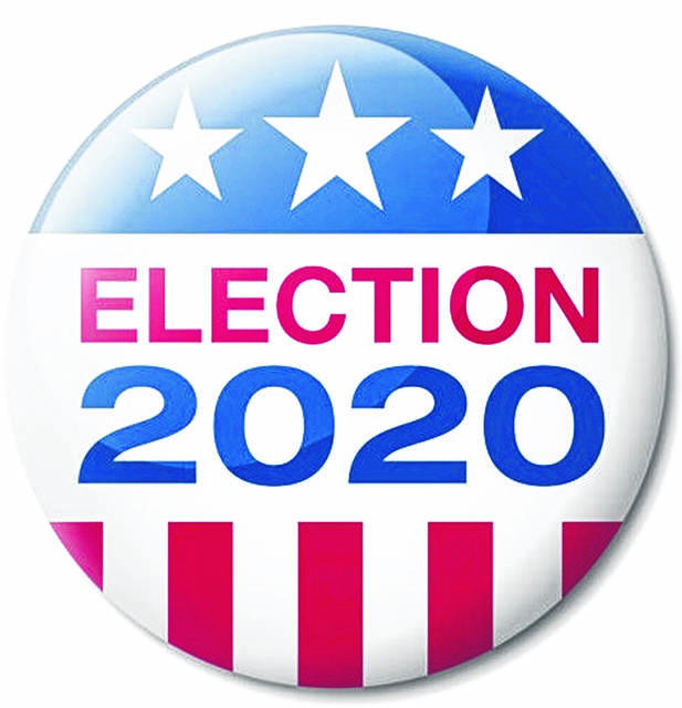 Vector illustration of Badge about the USA Presidential Election in 2020