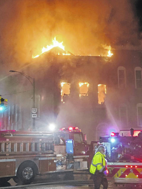 Several downtown Columbus Grove businesses were destroyed by fire Friday night.