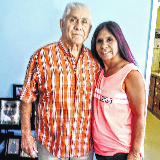 Jesus Cortez, left, with his daughter Martha Hill. Cortez died from COVID-19 complications on Sept. 21 and was the 70th person in Allen County to die from the disease.