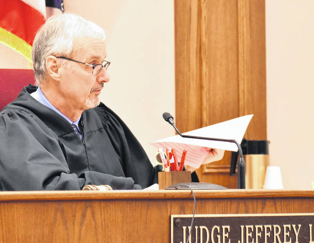 Allen County Common Pleas Court Judges Jeffrey Reed (above) and Terri Kohlrieser have postponed all jury trials in their respective courts until 2021 as the number of positive cases of COVID-19 in Allen County continue to rise.