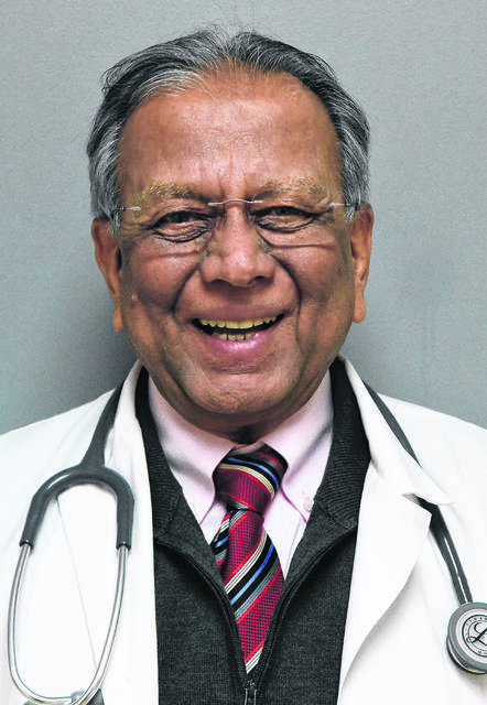 Dr. Suman Kumar Mishr at his office in Cridersville. Craig J. Orosz | The Lima News