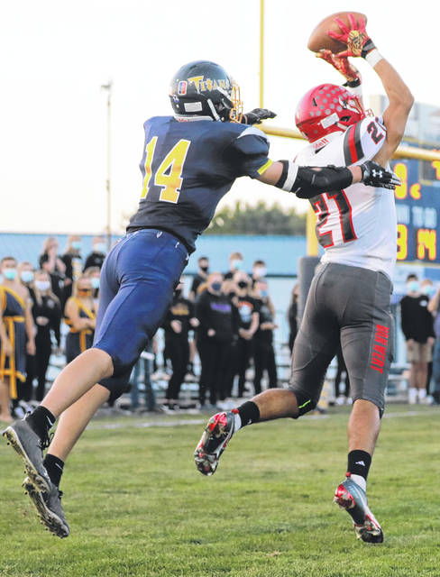 Van Wert's Dru Johnson (21) has been the Cougars' No. 1 receiver this year.