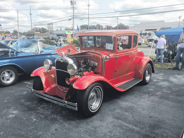 Tom Hamilton, of Centerville, has owned this Ford Model A for 21 years. He added a V-6 Ford motor from a T-Bird to it.
