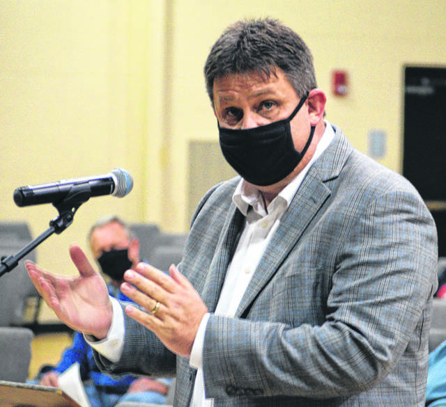 Jim Thompson voices his concern with a proposed Solar Farm proposal in parts of Allen and Auglaize Counties.