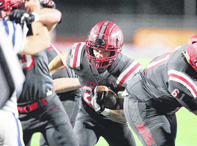 Nate Jackson (pictured) and other Van Wert ball carriers have benefited from strong line play this season.