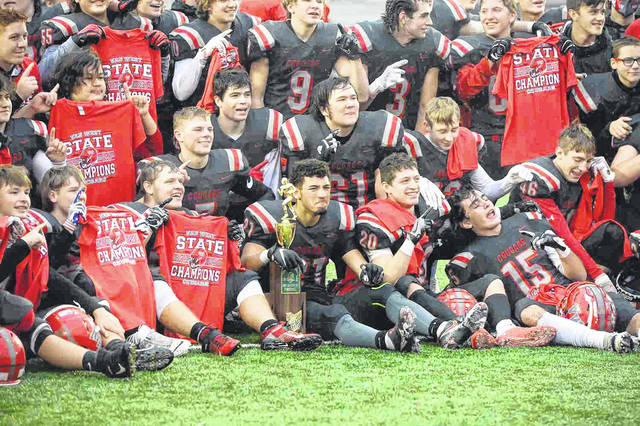 Van Wert wins Sunday's Division IV 49th Annual State Championships against Lake Catholic at Paul Brown Tiger Stadium in Massillon.  Richard Parrish | The Lima News