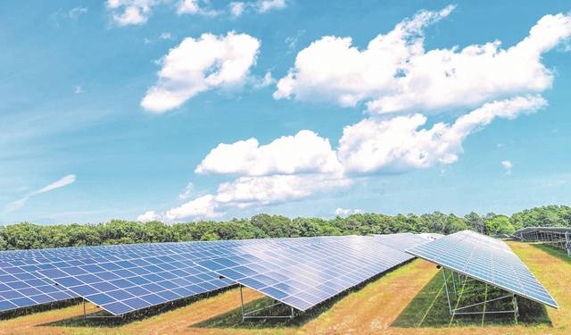 The completion in July of a solar power installation in Riverhead, N.Y., is shown. A proposal to build a solar energy farm in Allen and Auglaize counties has drawn concern from homeowners who live near the area being looked at for construction.