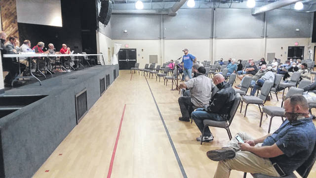 A Shawnee Township trustee meeting had to be moved to Shawnee Alliance Church on Monday in order to accommodate the large group of residents who wished to voice their concern about the proposed Birch Solar Project.