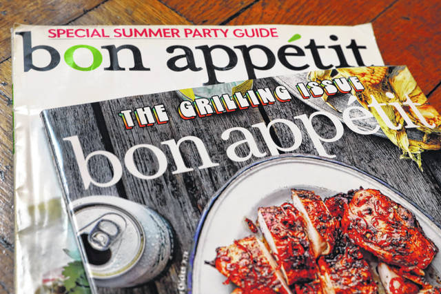 Two covers of Bon Appetit magazine are shown in New York. Epicurious and Bon Appetit have been at the center of accusations that also plague others in the food world: undervaluing staffers of color, perpetuating structural racism, racial and gender discrimination and more.