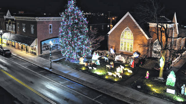 A view of the Blaze of Lights display in downtown Bluffton.