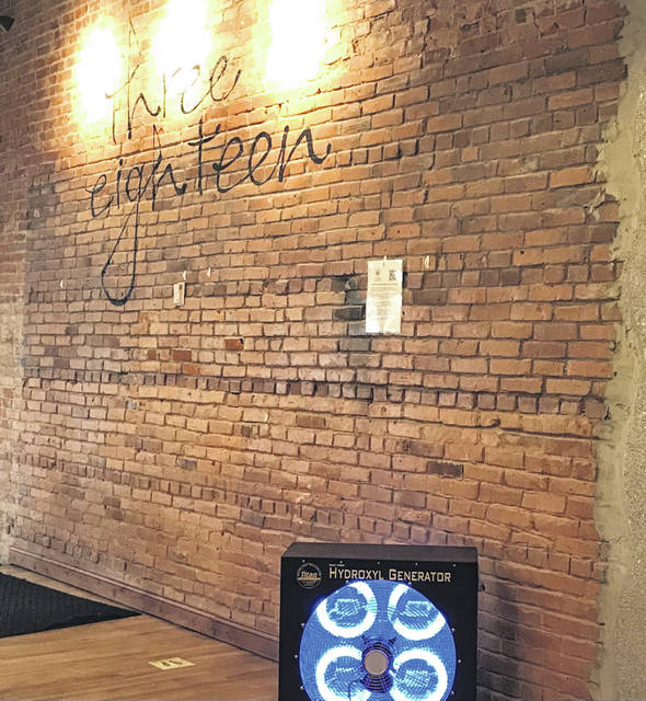 The 318 Restaurant & Bar in downtown Lima is the first bar in Allen County to use a hyroxyl generator to clear the air of coronavirus droplets.