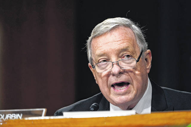 Sen. Dick Durbin, D-Ill., speaks during a Senate Judiciary Committee hearing on Capitol Hill in Washington, Tuesday, Nov. 10, 2020, on a probe of the FBI's Russia investigation.