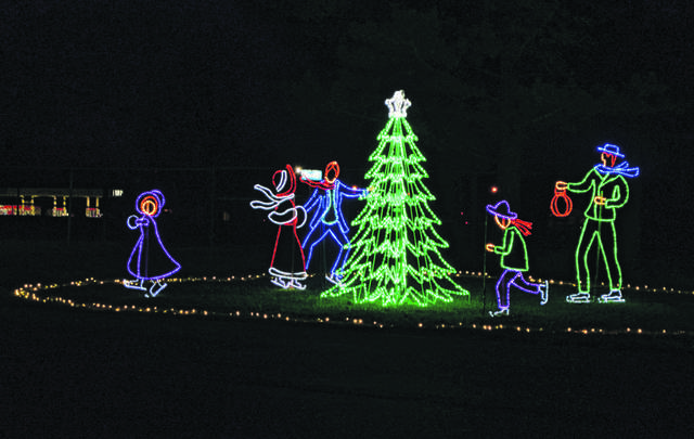 There are more than 45 LED Christmas light dislpays throughout the Allen County Fairgrounds for the first Mercy Health Bright Nights.