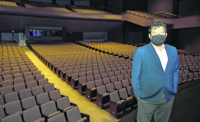 Veterans Memorial Civic Center CEO Abe Ambroza stands inside the Civic Center's theater in July. The Allen County commissioners approved shifting marketing money to the operations budget to keep the facility open into the spring despite severe budget cuts related to the coronavirus.
