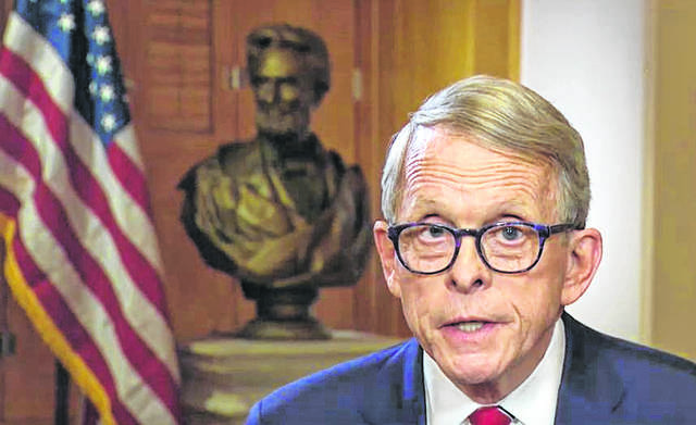Ohio Gov. Mike DeWine told fellow Republicans he's running for re-election as Ohio's governor.