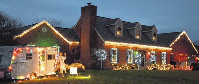 This home at 5190 Meadow Glen was one of 54 locations that participated in the Laurel Oaks Christmas Lighting Extravaganza.