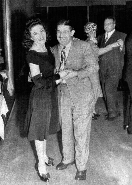 Nena and Jim Sarno lead the dancing at Sarno's Restaurant in downtown Lima.