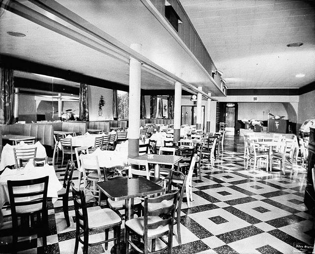 Sarno's Restaurant can be seen in 1955 as it appeared at 119 E. Market St., Lima. The restaurant boasted room for dancing and musicians.