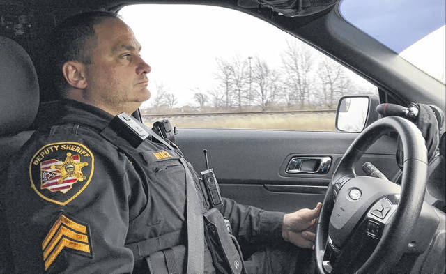 Sgt. Mark Brecht spent Christmas Day cruising through the towns of Leipsic, West Leipsic, Kalida and Glandorf.
