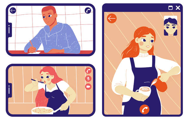 Video calls give families the ability to hold homegrown cooking classes.