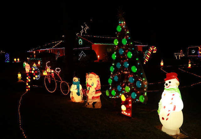 The holiday display at the Dietering residence at 6060 Defiance Trail near Delphos has delighted area residents for more than 50 years.