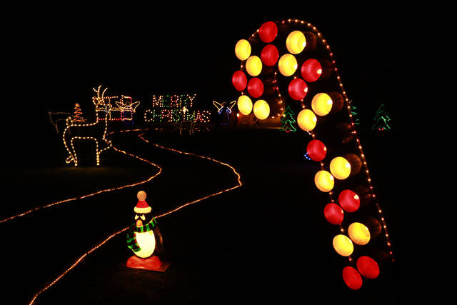 An extensive Christmas display awaits visitors at the home of Larry Dietering.