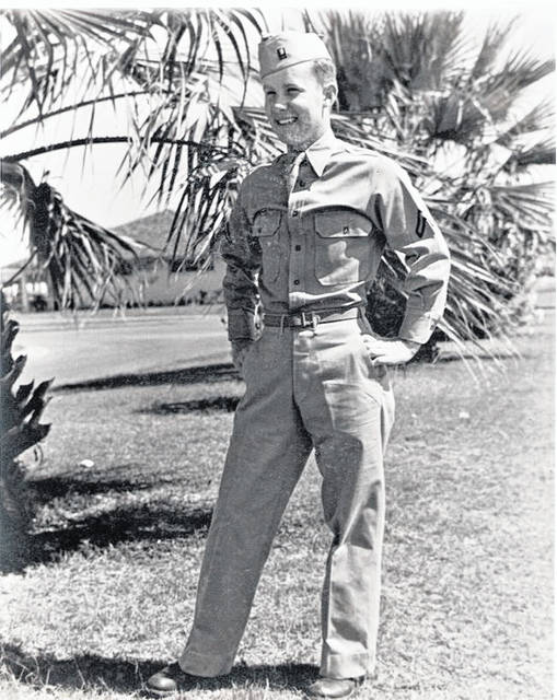 A young Wayne Rader when stationed in Hawaii.