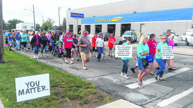 The 13th annual Allen County Suicide Awareness and Prevention Walk drew about 165 registered walkers in 2019.